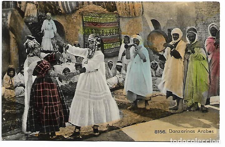 POSTAL DANZARINAS ARABES COLOREADA MARRUECOS (Postales - Postales Temáticas - Étnicas)
