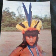 Postales: BRASIL, AMAZONAS, TRIBU, ANTIGUA POSTAL.ÑZ. Lote 289838078