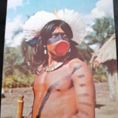 Postales: BRASIL, AMAZONAS, TRIBU, ANTIGUA POSTAL.ÑZ. Lote 289838228