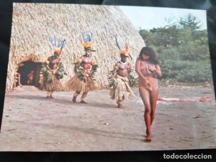 BRASIL, AMAZONAS, TRIBU, ANTIGUA POSTAL.ÑZ (Postales - Postales Temáticas - Étnicas)