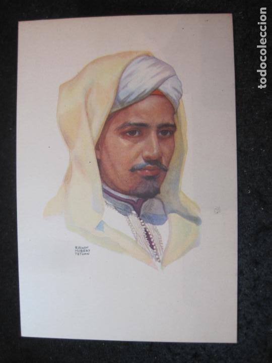 OFICINA TURISMO PROTECTORADO ESPAÑA MARRUECOS-ILUSTRADA POR ERWIN HUBERT-POSTAL ANTIGUA-(84.174) (Postales - Postales Temáticas - Étnicas)