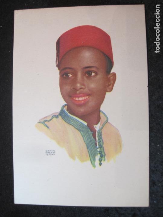 OFICINA TURISMO PROTECTORADO ESPAÑA MARRUECOS-ILUSTRADA POR ERWIN HUBERT-POSTAL ANTIGUA-(84.176) (Postales - Postales Temáticas - Étnicas)