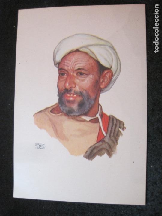 OFICINA TURISMO PROTECTORADO ESPAÑA MARRUECOS-ILUSTRADA POR ERWIN HUBERT-POSTAL ANTIGUA-(84.178) (Postales - Postales Temáticas - Étnicas)