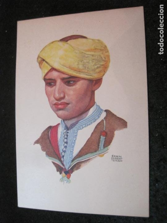 OFICINA TURISMO PROTECTORADO ESPAÑA MARRUECOS-ILUSTRADA POR ERWIN HUBERT-POSTAL ANTIGUA-(84.181) (Postales - Postales Temáticas - Étnicas)