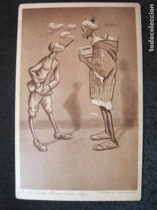 TU ECHAR HUMO COMO PAJA-EDICION 1921-D.MULLOR, MELILLA-POSTAL ANTIGUA-(84.182) (Postales - Postales Temáticas - Étnicas)