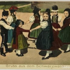 Postales: POSTAL ALEMANA GRUSS AUS DEM SCHWARZWALD. EN RELIEVE.. Lote 289902103