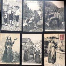 Postales: 6 POSTALES ANTIGUAS ÉTNICAS DE LOS PIRINEOS-II. Lote 293256243