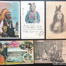 Postales: 10 POSTALES ANTIGUAS ÉTNICAS INDIOS AMERICANOS. Lote 293268228