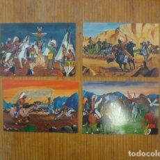 Postales: LOTE DE 4 ANTIGUA POSTAL DE INDIOS DE NORTE AMERICA. Lote 295628598