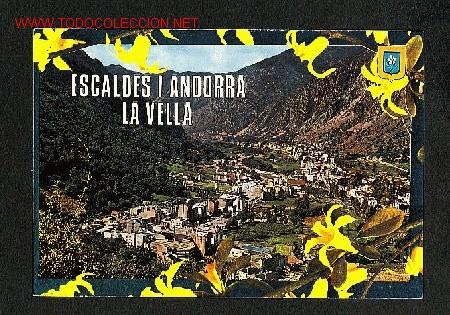 POSTAL D' ANDORRA: VISTA GENERAL D' ANDORRA I LES ESCALDES (ED.M.C.ISLA NUM.300) (Postales - Postales Extranjero - Europa)