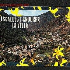 Postales: POSTAL D' ANDORRA: VISTA GENERAL D' ANDORRA I LES ESCALDES (ED.M.C.ISLA NUM.300). Lote 933267