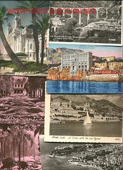 SIETE POSTALES ANTIGUAS DE MONTECARLO-MONACO (Postales - Postales Extranjero - Europa)