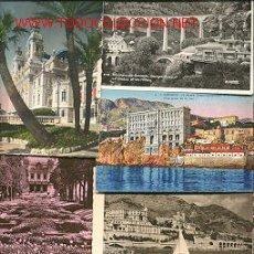 Postales: SIETE POSTALES ANTIGUAS DE MONTECARLO-MONACO. Lote 26990894