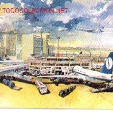 Postales: 7-745. POSTAL DIBUJO AEROPUERTO BRUSELAS. Lote 156668