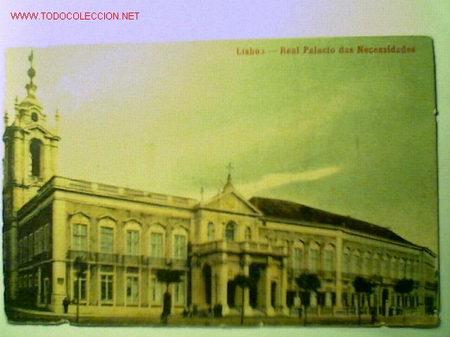 POSTAL ANTIGUA DE LISBOA. REAL PALACIO DAS NECESSIDADES, EDITADA EN PORTUGAL (Postales - Postales Extranjero - Europa)