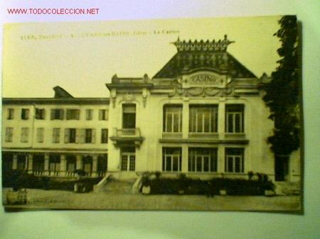 POSTAL ANTIGUA DE DAUPHINÉ- ALLEVARD LES BAINS (ISÉRE)- LE CASINO (Postales - Postales Extranjero - Europa)