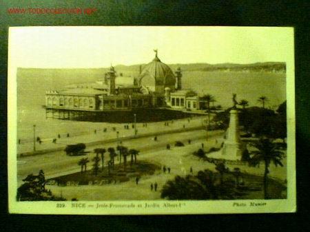 POSTAL DE NIZA FECHADA EN 1939. JETÉE-PROMENADE ET JARDIN ALBERT-Iº (Postales - Postales Extranjero - Europa)