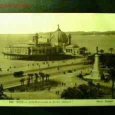 Postales: POSTAL DE NIZA FECHADA EN 1939. JETÉE-PROMENADE ET JARDIN ALBERT-Iº. Lote 16461487