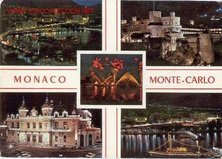 MONACO-MONTECARLO. VISTA NOCTURNA (CIRCULADA 1989) (Postales - Postales Extranjero - Europa)
