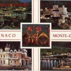 Postales: MONACO-MONTECARLO. VISTA NOCTURNA (CIRCULADA 1989). Lote 25959937
