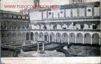 POSTAL ANTIGUA DE NAPOLI - SAN MARTINO - IL CHIOSTRO. CIRCULADA 1908? (Postales - Postales Extranjero - Europa)