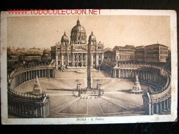 POSTAL ANTIGUA DE ROMA - S. PIETRO. CIRCULADA EL 31/08/1926. (Postales - Postales Extranjero - Europa)