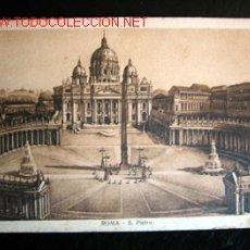 Postales: POSTAL ANTIGUA DE ROMA - S. PIETRO. CIRCULADA EL 31/08/1926.. Lote 17029195
