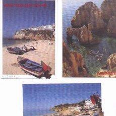 Postales: 7-53. POSTALES PLAYAS. 3 DIF. ALGARVE. PORTUGAL. Lote 350310