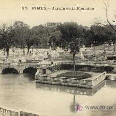 Postales: A1035 FRANCIA NIMES JARDIN DE LA FONTAINE ANTIGUA. Lote 3374950