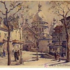 Postales: A1151 FRANCIA POSTCARD PARIS LE SACRE-COEUR PINTURA - &ALF. Lote 3397806