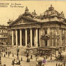 Postales: A0524 BELGICA, BRUSELAS LA BOLSA- BONITA Y ANTIGUA 1915 - - &ALF. Lote 3664289
