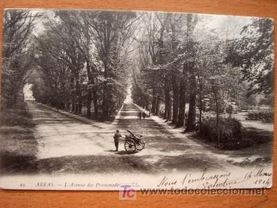 ARRAS - L´AVENUE DES PROMENADES - CIRCULADA FECHADA EN 1904 (VER FOTO ADICIONAL) (Postales - Postales Extranjero - Europa)