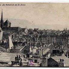 Postales: SUIZA, GENEVE. LA CATHEDRALE DE ST. PIERRE. CIRCULADA EN 1921. Lote 4846549