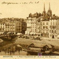 Postales: BAYONNE, Nº 56. LE PONT MARENGO ET LE QUAI DES HALLES. P/ EUR-012. Lote 5333341