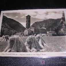 Postales: VALLS D'ANDORRA, ESGLESIA ROMANICA DE SANTA COLOMA, V. CLAVEROL. Lote 5825532