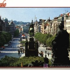 Postales: REPUBLICA CHECA. PRAGA. PLAZA WENCESLAS. Lote 7159646