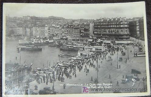 POSTAL ANTIGUA MARSEILLE - LE QUAI DES BELGES - CIRCULADA 1931 (Postales - Postales Extranjero - Europa)