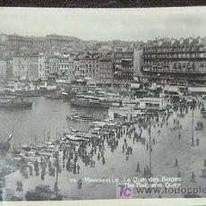 Postales: POSTAL ANTIGUA MARSEILLE - LE QUAI DES BELGES - CIRCULADA 1931. Lote 22844717