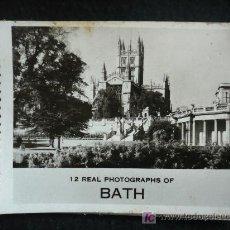 Postales: CUADERNILLO REAL PHOTOGRAPHS OF BATH. 12 FOTOGRAFIAS. 8X9. Lote 9307401