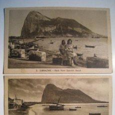 Postales: GIBRALTAR - LOTE 2 POSTALES ORIGINALES. Lote 8410167
