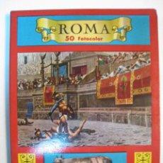 Postales: BLOC 50 FOTO POSTALES COLOR ROMA (ITALIA) - AÑOS 60. Lote 8546772