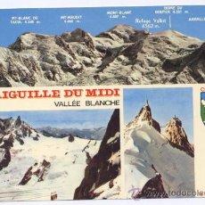 Postales: POSTAL CHAMONIX - AIGUILLE DU MIDI - VALLÉE BLANCHE MONT BLANC. Lote 10021469
