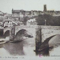 Postales: SUIZA: FRIBOURG. LE PONT ST-JEAN . LL Nº 42. AÑOS 20. Lote 9485853