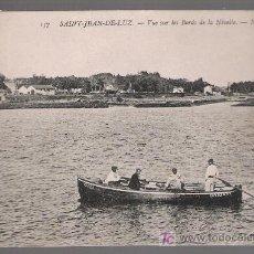 Postales: SAN JUAN DE LUZ. VUE SUR LES BORDS DE LA NIVELLE. FRANQUEADA Y FECHADA: 28 ENE. 1909. Lote 23976163
