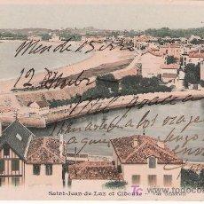 Postales: SAINT JEAN DE LUZ ET CIBOURE. VISTA GENERAL. FRANQUEADA Y FECHADA (BORROSO). ANTERIOR A 1906. Lote 14682508