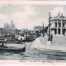 Postales: VENEZIA. MOLO DALLA RIVA SCHIAVONI. FRANQUEADA Y FECHADA 1927. Lote 14693725