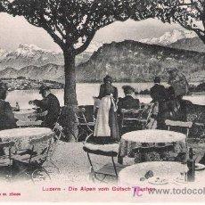 Postales: LUZERN-DIE ALPEN VOM GUTSCH GESEHEN. Lote 16479816