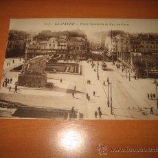 Postales: LE HAVRE.-PLACE GAMBETTA ET RUE DE PARIS. Lote 9579414