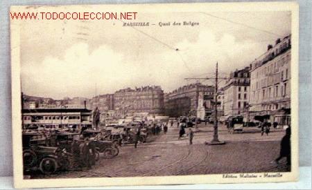 POSTAL MARSEILLE MARSELLA QUAI DES BELGES EDITION MOLINIER CIRCULADA 1930 (Postales - Postales Extranjero - Europa)