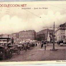 Postales: POSTAL MARSEILLE MARSELLA QUAI DES BELGES EDITION MOLINIER CIRCULADA 1930. Lote 1364653